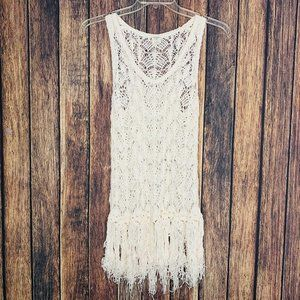 Abercrombie & Fitch swim cover-up crocheted ivory